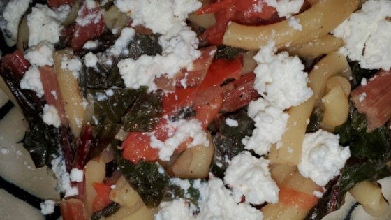 spaghetti with red chard and mustard cream sauce review by