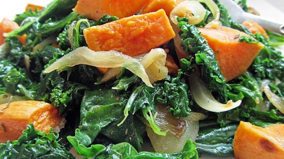Photo of Roasted Yam and Kale Salad by Matt D