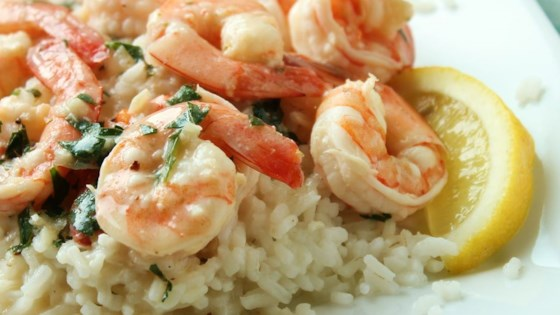 Photo of Lemony Shrimp over Brown Rice by almondjoy2807