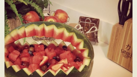 Photo of Watermelon Fruit Salad Bowl by Inspired by Home Cooks