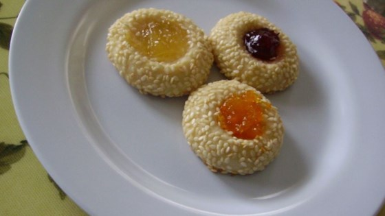 Apricot Sesame Cookies
