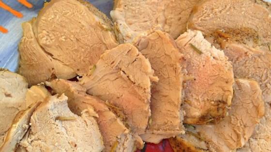 Schweineruckbraten (Microwave Loin of Pork)