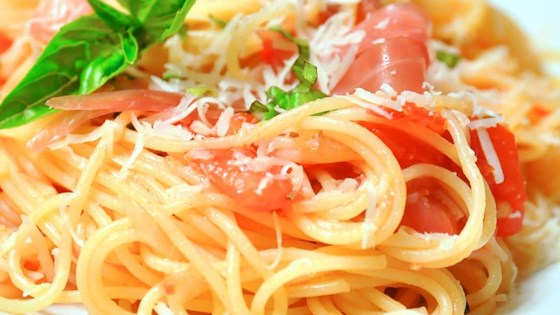Photo of Summer Fresh Pasta with Tomatoes and Prosciutto by Wyattdogster