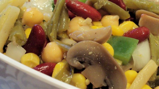 Three Bean Salad with Corn