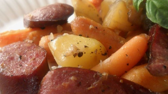 Photo of Sausage, Potato, Carrot Bake by zancanella