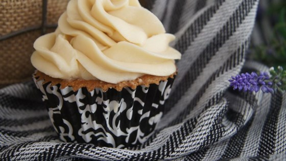 Photo of Almond Cupcake with Salted Caramel Buttercream Frosting by BakinMama