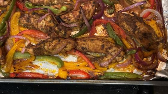 sheet pan chicken fajitas review by hausome