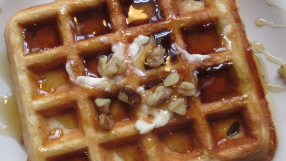 Photo of Crispy Walnut Maple Waffles by ONVACATION