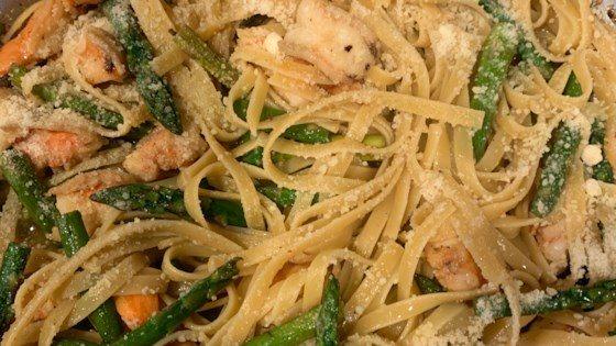 shrimp and asparagus fettuccine review by luv2cook