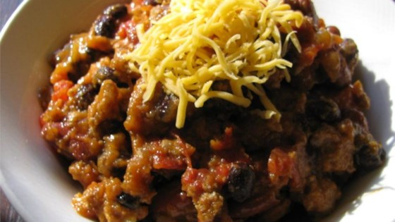 Photo of Slow Cooker Pumpkin Turkey Chili by coffee_junkee