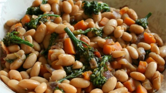 Photo of Maple Cannellini Bean Salad with Baby Broccoli and Butternut Squash by Jennifer Baker
