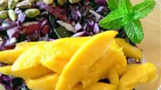 Red Cabbage Mango Pistachio Salad
