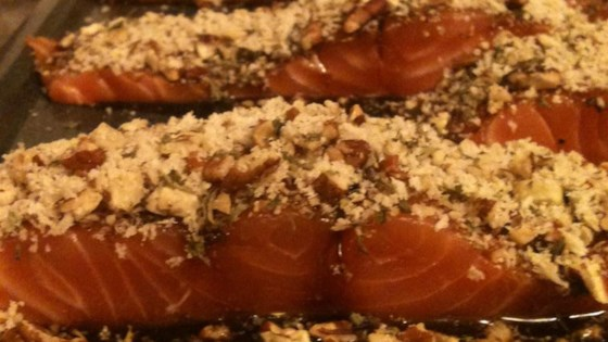 Photo of Glazed Pecan-Crusted Baked Salmon by Christopher Gomez