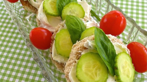 Photo of Christa's Cucumber Basil Tea Sandwiches by christaann