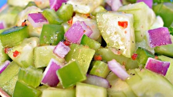 Italian Onion Cucumber Salad