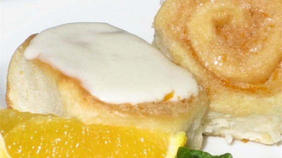 Photo of Grandma's Orange Rolls with Orange Cream Cheese Frosting by Andi Williams