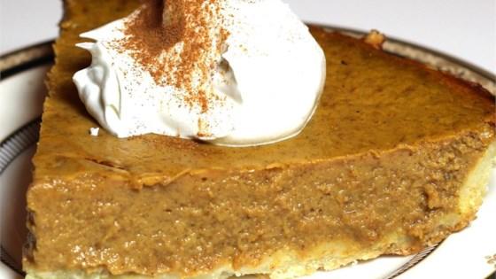 Sugarless Pumpkin Pie