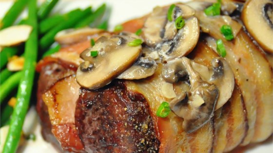 Photo of Bacon-Wrapped Venison Tenderloin with Garlic Cream Sauce by Huntmom