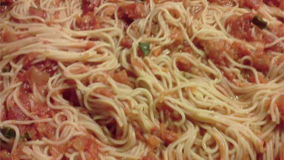 Photo of Spaghetti with Garlic, Herbs, and Tomatoes by GYPSY-WITCH