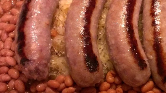 Photo of Bratwurst, Sauerkraut and Bean Casserole by MLTDEBBIE