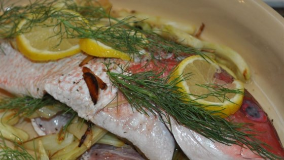 Photo of Red Snapper with Fennel and Garlic by IMANKAY
