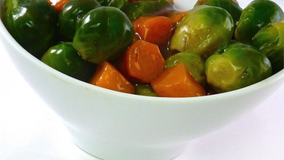 Photo of Glazed Carrots and Brussels Sprouts by Diane