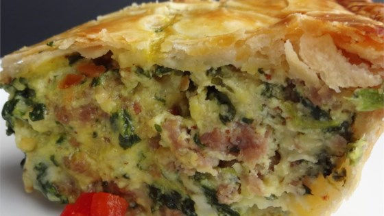 Photo of Italian Spinach Sausage Pie by Kimberly
