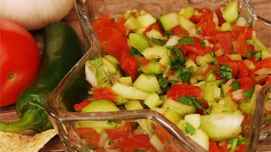 Photo of Fresh and Light Cucumber Salsa by insanemomof5