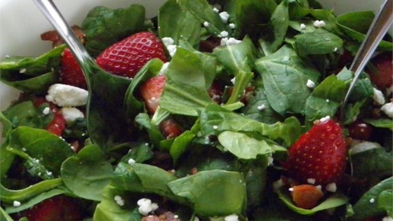 Photo of Strawberry Spinach Salad With Feta and Bacon by MALLOYLK
