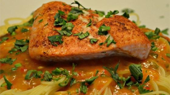 Photo of Roasted Red Pepper Salmon Pasta by David Van Klinken