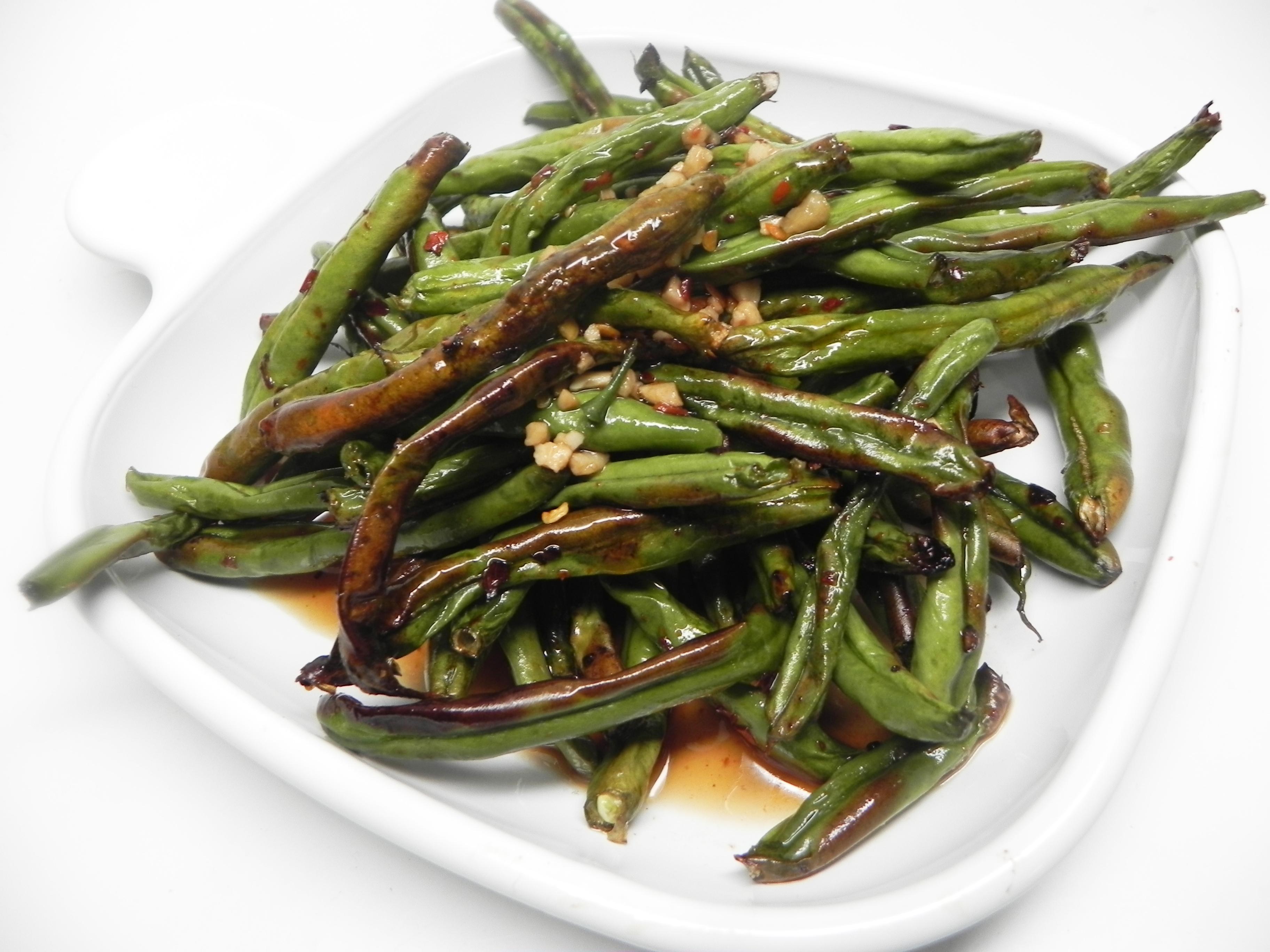 Air Fryer Spicy Green Beans
