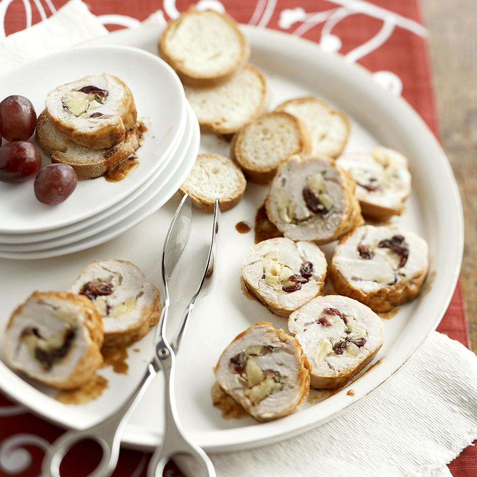 Apple, Cranberry and Cheddar Stuffed Turkey Tenderloin Diabetic Living Magazine