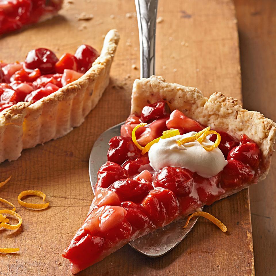 Cherry-Apple Tart with Baked Almond Crust Diabetic Living Magazine