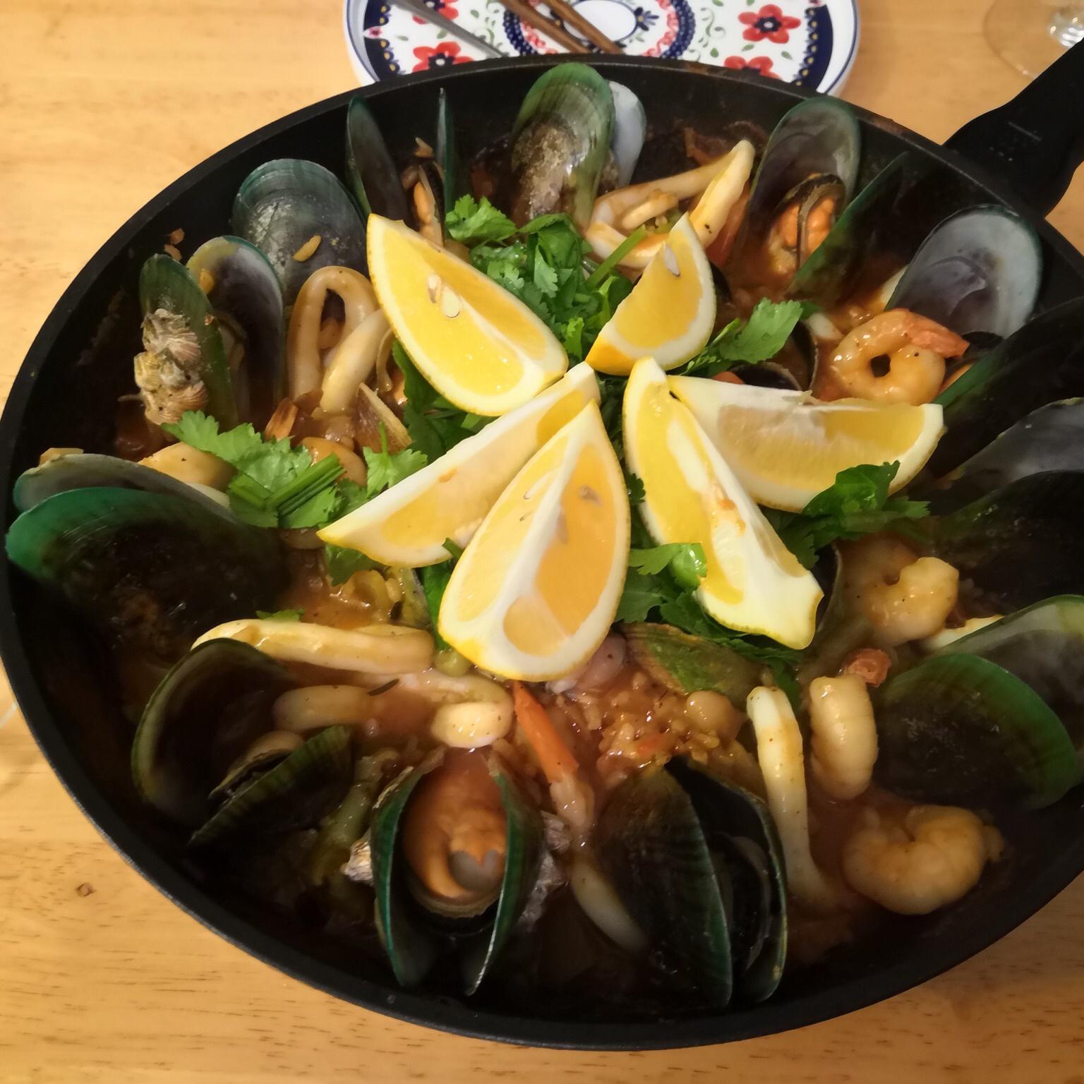 Authentic Seafood Paella image