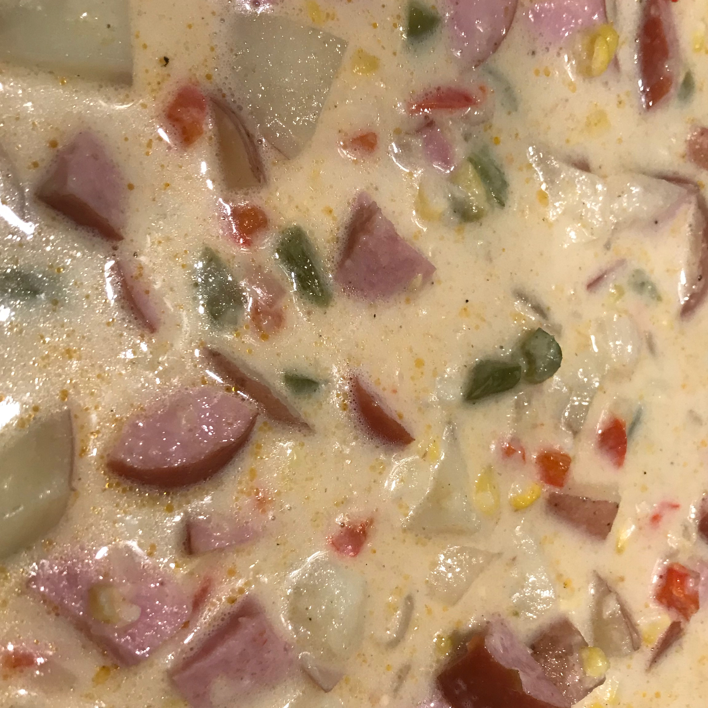 Corn, Sausage and Pepper Chowder