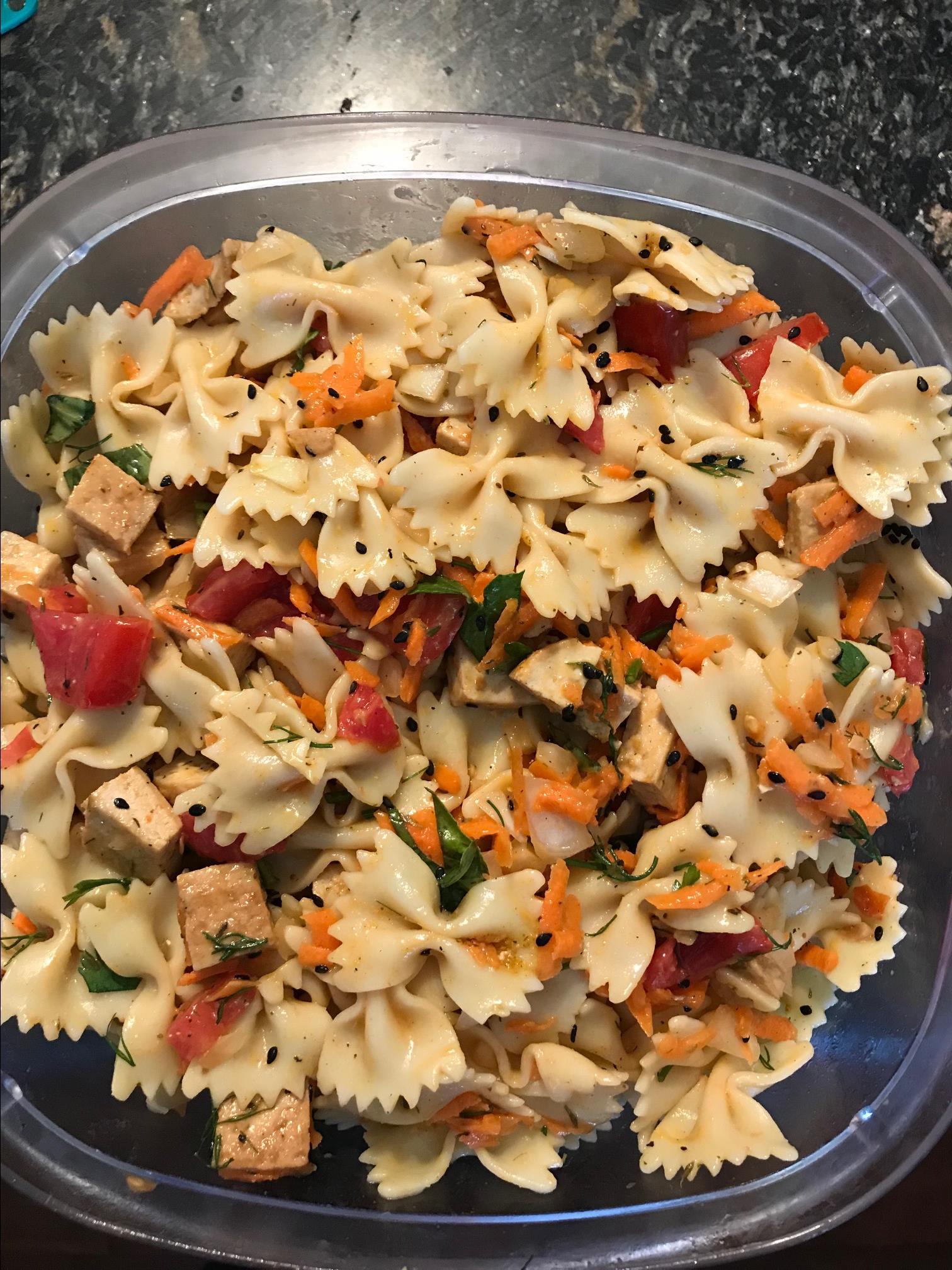 Tofu Pasta Salad cloverleaf_bella