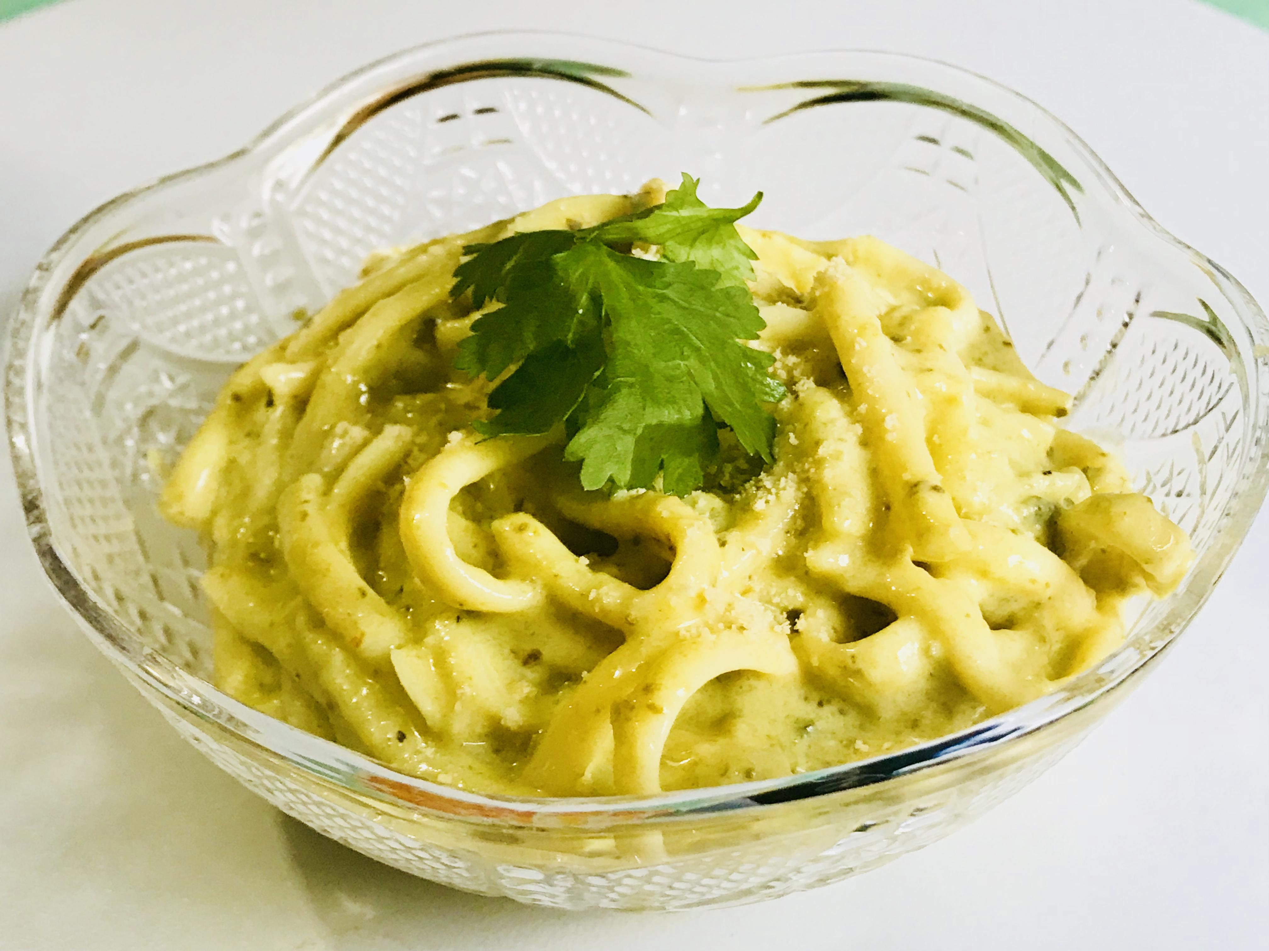Creamy Poblano Spaghetti