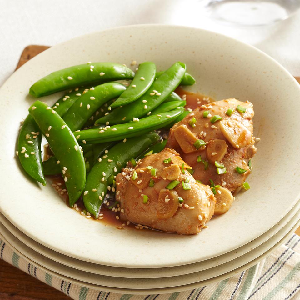 Asian-Garlic Chicken Thighs Diabetic Living Magazine