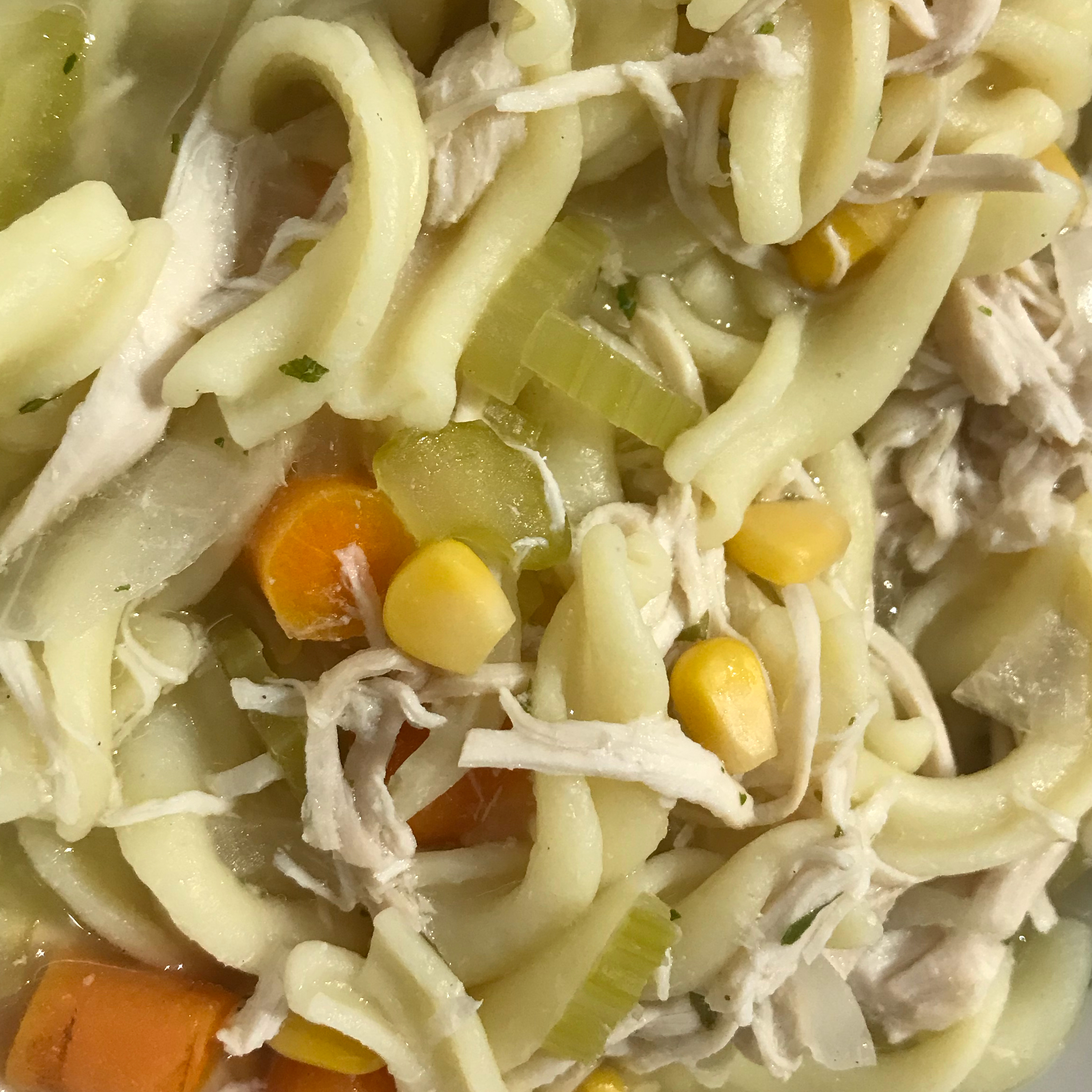 Slow Cooker Chicken and Noodles Blue bird