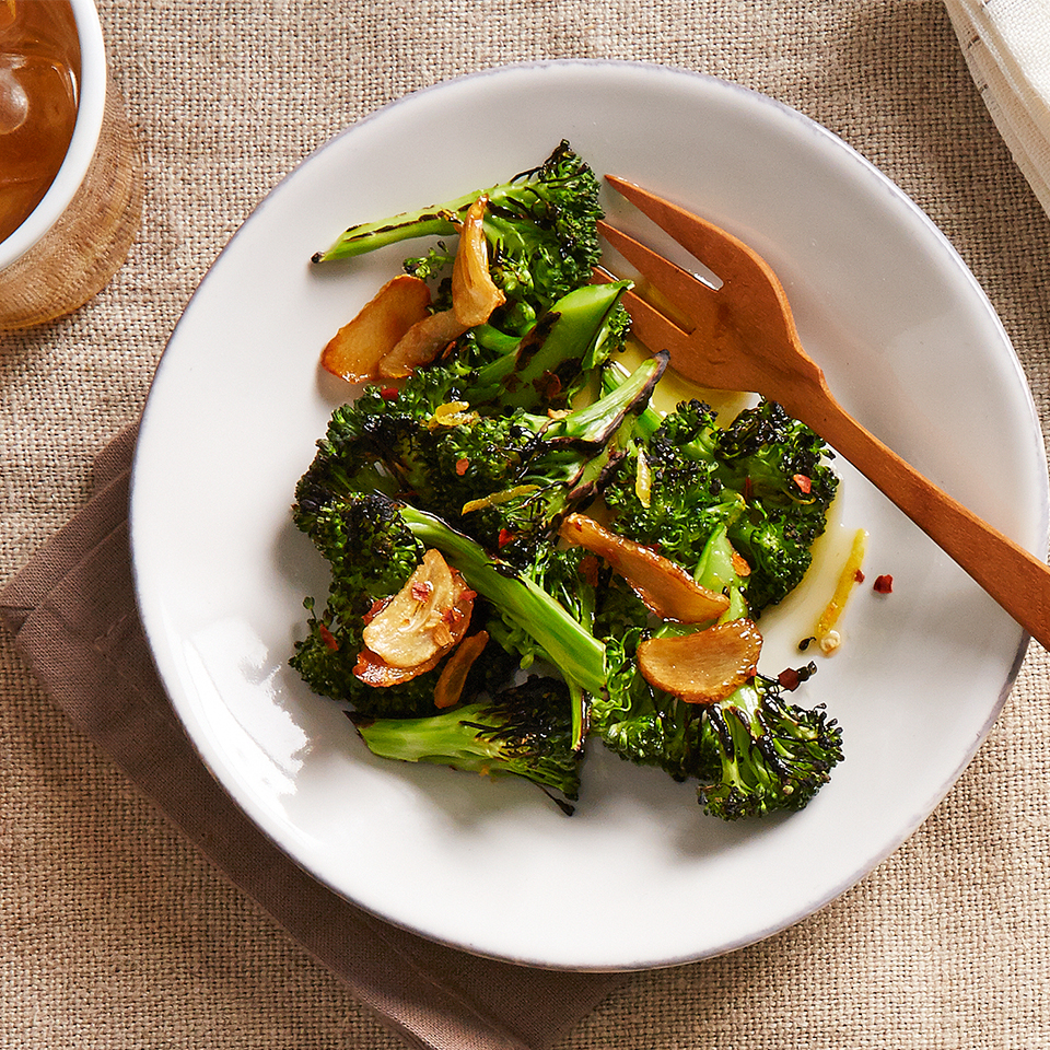 Blistered Broccoli with Garlic and Chiles Diabetic Living Magazine
