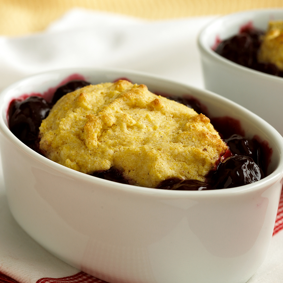 Cherry Cobbler with Corn Bread Biscuits Diabetic Living Magazine