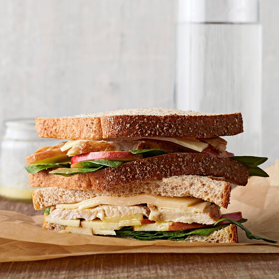 Turkey, Apple and Havarti Sandwich Diabetic Living Magazine