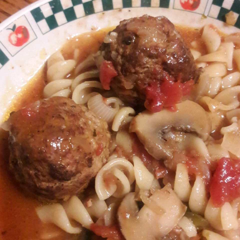 Meatball Noodle Onion Stoup Queen Mother