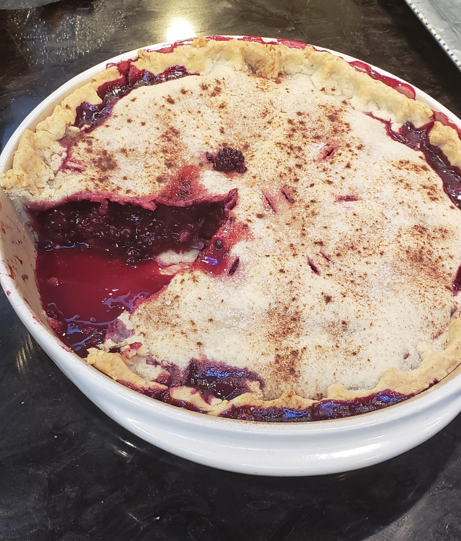 Grandma's Blackberry Pie