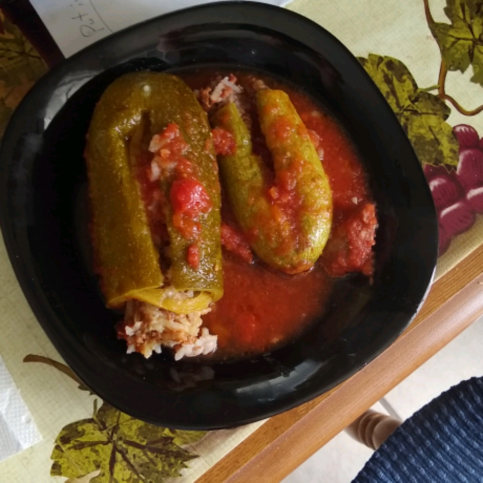 Middle Eastern Stuffed Zucchini