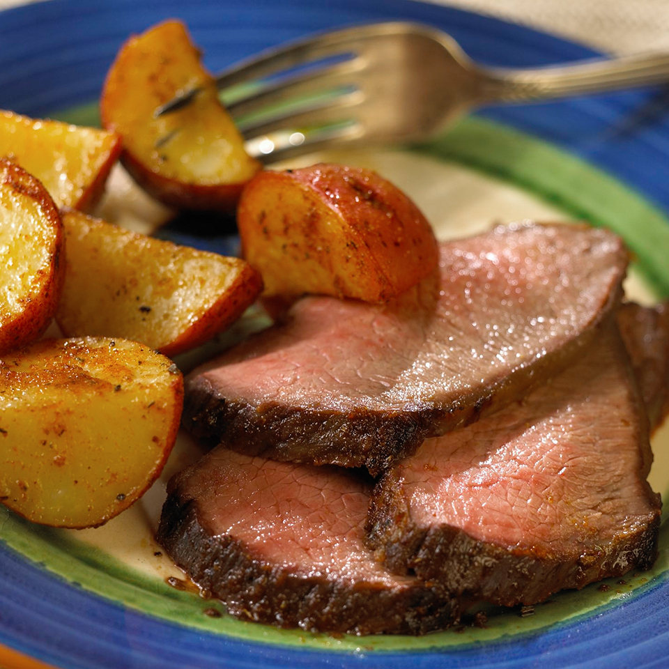 Roast with Spicy Potatoes Diabetic Living Magazine
