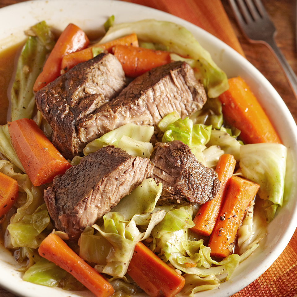 Slow-Cooked Beef with Carrots & Cabbage Diabetic Living Magazine