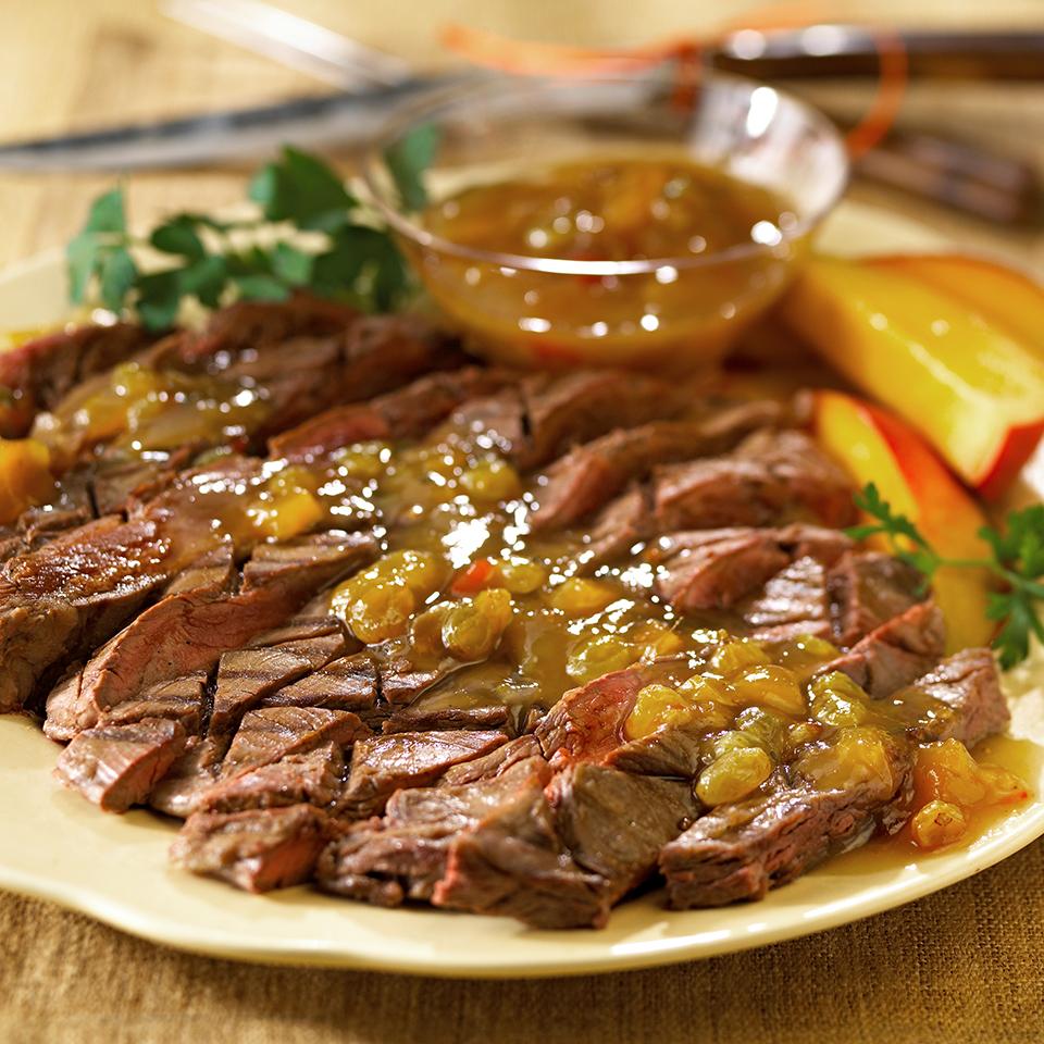 Steak with Chutney Sauce Diabetic Living Magazine