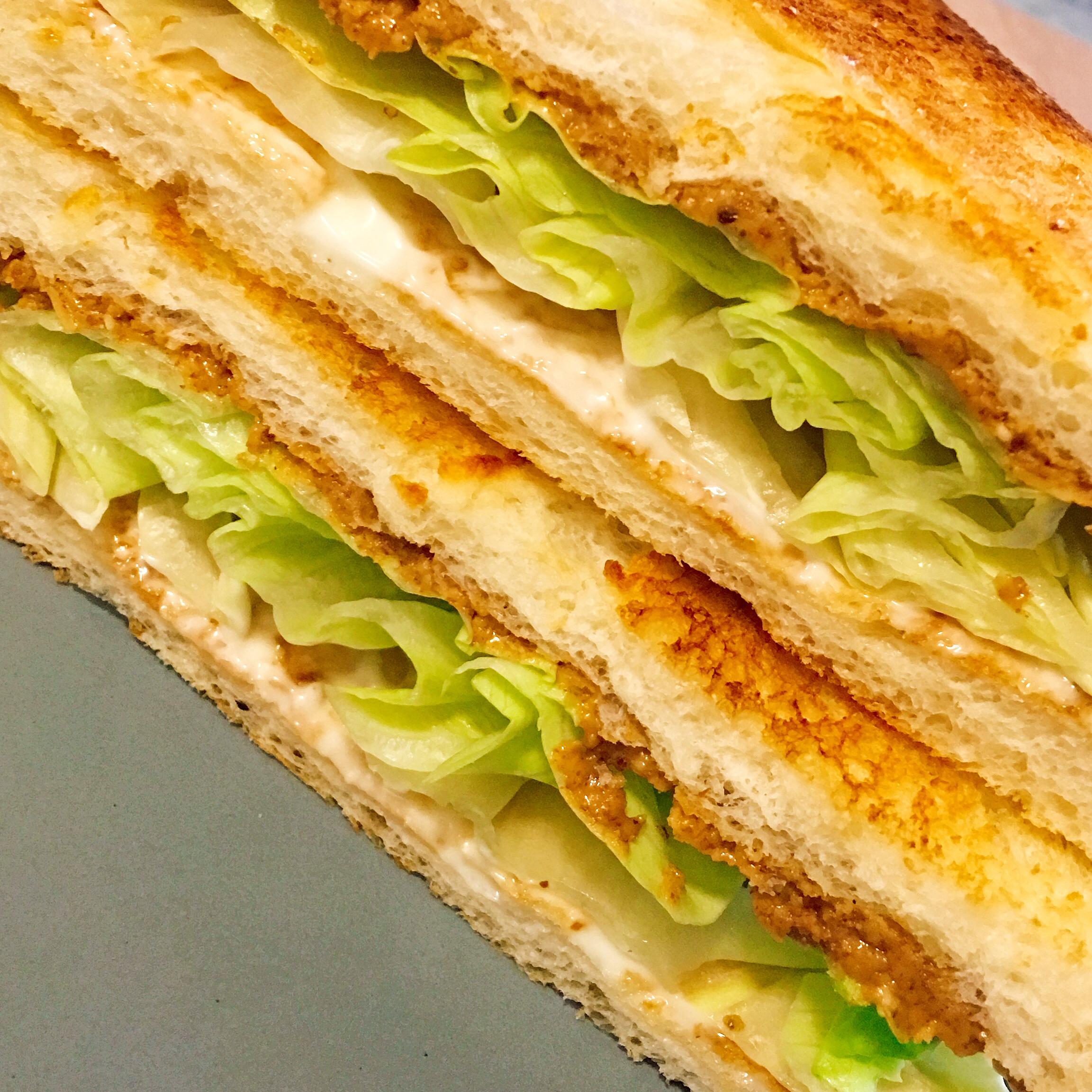 Peanut Butter, Mayonnaise, and Lettuce Sandwich Vanessa Martens