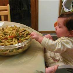 Asparagus, Chicken, and Pecan Pasta Bailey Jane